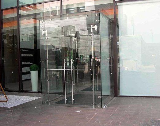 двери из стекла входная группа